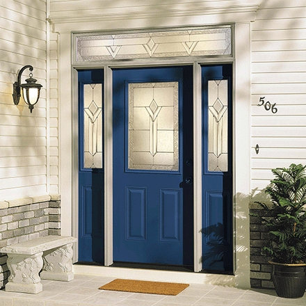 Pella 1/2 Light Entry Door with Glass